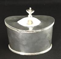 Mappin & Webb Antique Silver Plated Oval Tea Caddy (3 of 6)