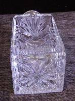 Vintage Cut Glass Square Decanter (5 of 7)