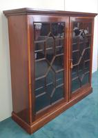 Pair of Edwardian Inlaid Mahogany Floor Bookcases (3 of 4)