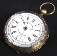 Antique Chronograph Pocket Watch Sweeping Stop Start Seconds Hand Swiss Made Key Wind. (5 of 8)