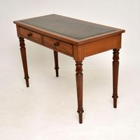 Antique Victorian  Mahogany  Leather   Top Writing Table / Desk (3 of 10)