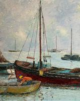 Marion Coker Leigh on Sea Fishing Boats Seascape Sailing Oil Painting (11 of 15)