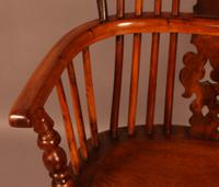Yew Wood High Windsor Chair c.1850 (6 of 9)