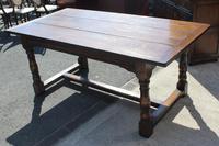 1960's Heavy Oak Refectory Table (5 of 6)