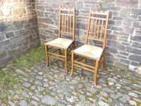 Pair of Arts & Crafts Scottish Chairs by E.A.Taylor (6 of 10)