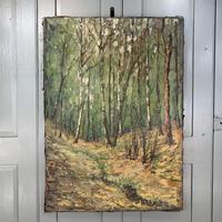 Antique German Impressionist Landscape Oil Painting of Woodland Signed Keiker (5 of 10)