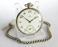 1930s Omega Pocket Watch with Chain (2 of 5)