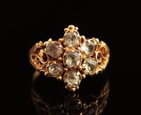 Antique Victorian Topaz Cluster Ring, 18ct Gold (9 of 11)