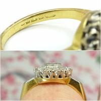 Vintage 18ct Platinum diamond cluster ring c.1960s (11 of 11)