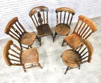 Interesting Assortment of 6 Windsor Kitchen Chairs (4 of 8)
