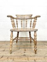 Pair of Antique Smoker's Bow Chairs (4 of 10)