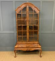 Burr Walnut Dome Topped Display Cabinet (2 of 21)