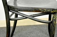 Bentwood Vintage Ebony / Black Floral Print Chair (3 of 9)