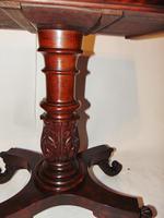 American Regency mahogany card table (2 of 9)