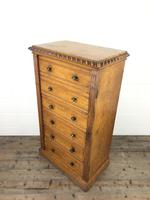 Large Victorian Oak Wellington Chest of Drawers by Shoolbred (12 of 13)