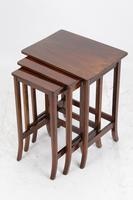 Small Edwardian Nest of 3 Mahogany Tables (2 of 13)