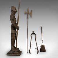 Antique Fire Companion, English, Steel, Knight, Fireside Tools, Victorian, 1900 (8 of 11)