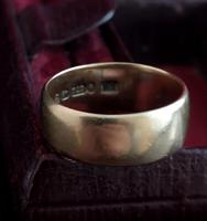 Victorian 9ct Gold Wedding Ring, Band (8 of 11)
