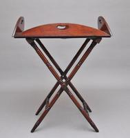 Early 19th Century Mahogany Folding Butlers Tray on Stand (5 of 10)