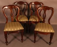 Set of 12 Victorian Spear Point Balloon Back Dining Chairs (6 of 11)