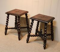 Pair Of Carved Oak Tables (4 of 9)