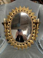 Early 20thC Spanish Gilt Brass Wall Mirror (2 of 4)