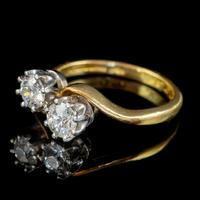Antique Edwardian 1ct Diamond Twist Ring 18ct Gold Circa 1910 (8 of 9)