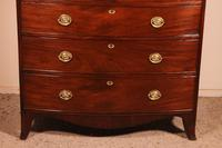 Bowfront Chest of Drawers Early 19 Century in Mahogany from England (3 of 11)