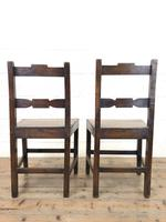 Pair of Country Bar Back Chairs (8 of 8)