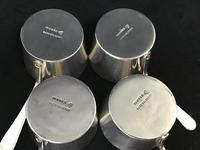 Set of Four Victorian  Silver Plated Brandy Warming Pans by William Hutton & Son  Sheffield (4 of 4)