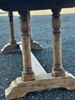 French Bleached Oak Farmhouse Refectory Dining Table (18 of 18)