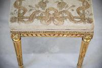 Square French Style Gilt Stool (2 of 7)