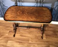 Victorian Burr Walnut & Amboyna Centre Table (6 of 14)