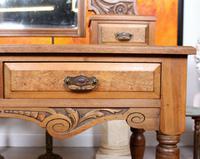 Dressing Table Burr Walnut Mirrored 19th Century (8 of 9)