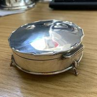 1913 Antique Sterling Silver Mappin & Webb Trinket Box (5 of 5)