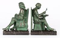 Max Le Verrier Pair Art Deco Patinated Bronze The Cobbler & The Financier Bookends (8 of 18)