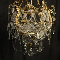 French Gilded Bronze Antique Chandelier (2 of 10)