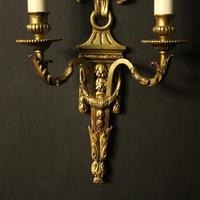 French Gilded Bronze Pair Of Antique Wall Lights (7 of 9)