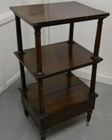 Three Tier Regency Rosewood Whatnot with Drawer (6 of 7)