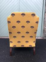 English Walnut Upholstered Armchair for recovering (7 of 8)