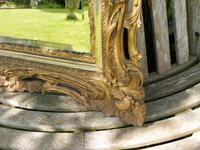Gilded Rococo Style Wood Mirror Bevelled Glass 1900 (9 of 12)