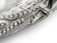 Victorian Oval Silver Plated Swing Handle Basket with Wheat and Rope Border on Four Cast Scroll Feet (2 of 5)