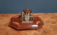 Antique Sheraton Inlaid Mahogany Pen & Ink Stand (4 of 4)