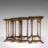 Antique Quartetto of Tables, English, Walnut, Mahogany, Nest, Edwardian, C.1910 (8 of 10)