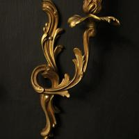 French Pair of Gilded Antique Wall Lights (5 of 10)
