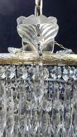 Pair of Italian Art Deco Four Tier Crystal Glass Chandeliers (5 of 7)