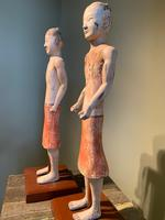 Two Han Dynasty Chinese Pottery 'Stick Men' figures '200BC-200AD' (5 of 8)