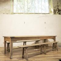 Large Scale 19th Century French Sycamore & Oak Farmhouse Table & Benches (16 of 19)