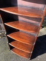 Antique Slim Oak Domed Top Open Bookcase (7 of 8)
