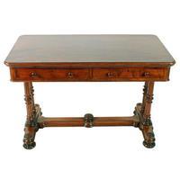 Mid 19th Century Mahogany Library Table (3 of 8)